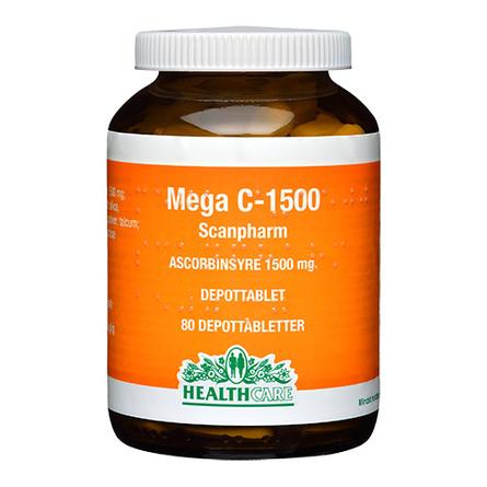 Mega C 1500 mg HealthCare 80 tab