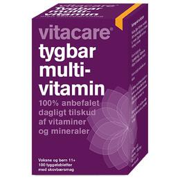 Tygbar Multivitamin til voksne (11+) Vit 100 tab