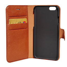 Mobilcover Iphone 6 cognac brun flip-side RadiCo