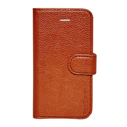 RadiCover Mobilcover Iphone 4/4S cognac brun, flip-side, Rad