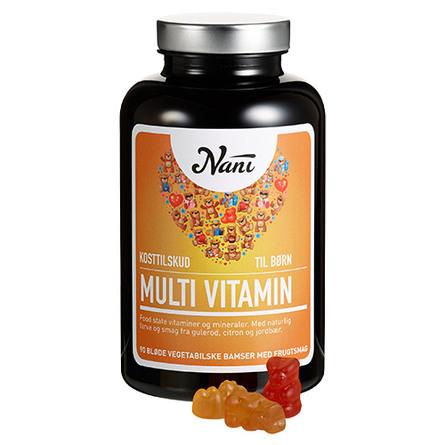 Multivitamin til børn Nani food state 90 tab