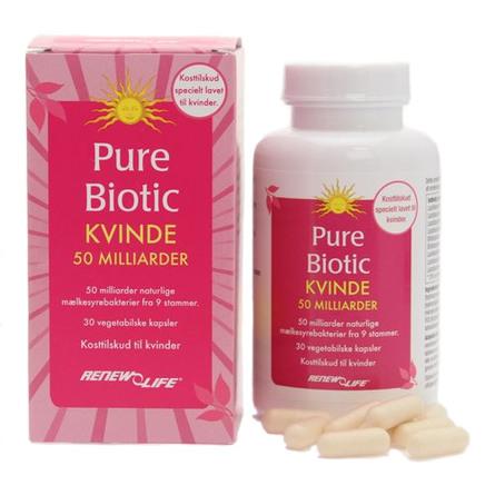 Renew Life Pure Biotic Kvinde 50  30 kaps.