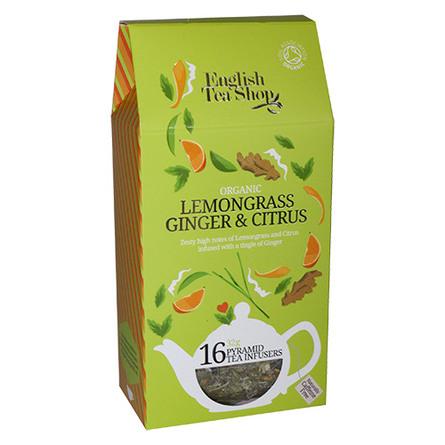 English Tea Shop Lemongrass, ginger, citrus Øko 1 16 breve