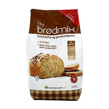 Brødmix glutenfri Lowkarb-brød 1 kg