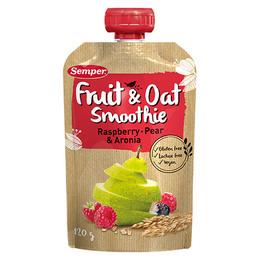 Smoothie frugt og havre m. hindbær glutenf 120 g