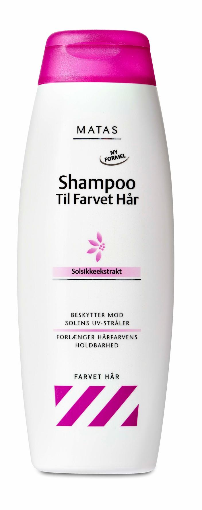 bedste shampoo til farvet hår