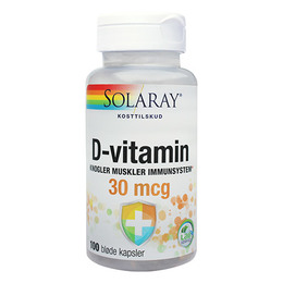 D-vitamin 30 mcg 100 kap