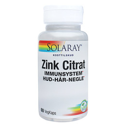 Zink Citrat 20 mg 60 kap