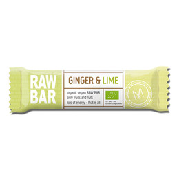 Mols Organic Raw Bar Ginger & Lime  Øko 45 gr.