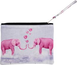 Luxury by Laze makeup-pung lille m print elephant