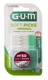 GUM Soft-Picks regular 50 stk. med etui 50 stk.