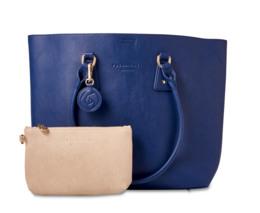 Rosemunde Shopper med Kosmetikpung Blå/Beige