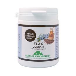 Flax Omega 3, 500mg Hørfrøolie 180 kap