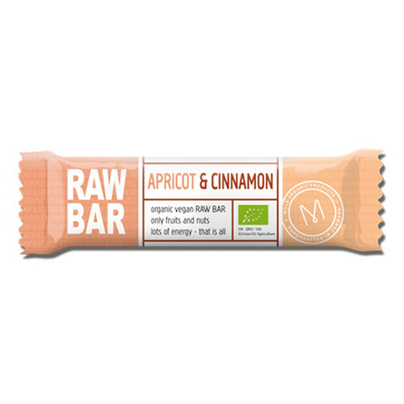 Mols Organic Raw Bar Apricot & Cinnamon Øko 45 gr.