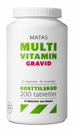 Matas Striber Matas Multivitamin Gravid 200 tabl. 200 tabl.