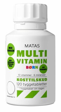 Matas Striber Multivitamin Børn m/sukker 120 tabl.