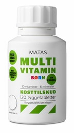 Matas Striber Matas Multivitamin Børn 120 tabl. 120 tabl.