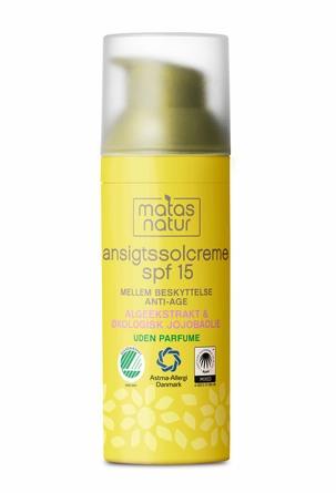 Matas Natur Ansigtssolcreme SPF 15 50 ml