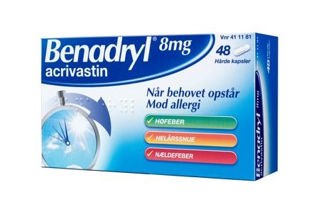 Benadryl 8 mg 48 kapsler