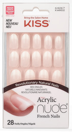 Kiss Acrylic Nude French nails KAN02