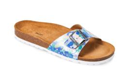 fbded4319f9d Matas Material Matas sandal retro blå m blomsterprint str.