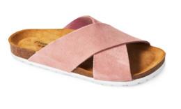 Matas Material Matas sandal rosa ruskind m krydsrem str. 37