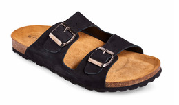 Matas Material Matas sandal premium sort læder str. 40