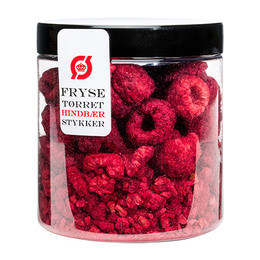 Hindbær stykker frysetørret Ø 35 g