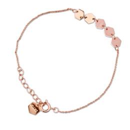 Cluse Essentielle Rose Gold Hexagons Chain Bracelet