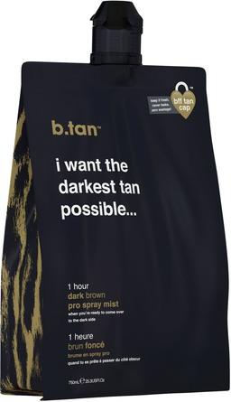 b.tan Pro Spray Mist I Want The Darkest Tan Possible