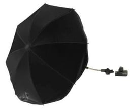 Basson Baby Parasol Lux Sort, aftagelig