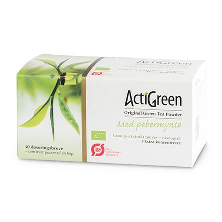 Grøn te m. pebermynte Ø ActiGreen