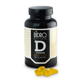 D-vitamin 38 ug m.appelsinsmag Bidro 90 kap