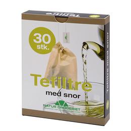Natur Drogeriet Engangs Tefiltre m. snor ubleget 30 stk.