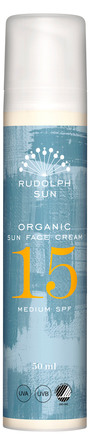 Rudolph Care Organic Sun Face Cream SPF 15 50 ml