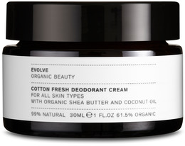 Evolve Cotton Fresh Deodorant Cream 30 ml