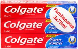 Colgate Tandpasta Karies Kontrol 3-pak - Promo