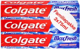 Colgate Tandpasta Max Fresh Cool Mint 3-pak - Promo
