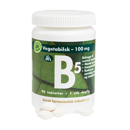 Grønne dfi vitaminer B5 - Vitamin 100 mg 90 Tabletter