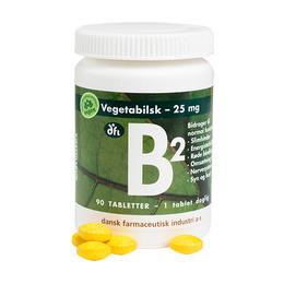 Grønne dfi vitaminer B2, 25 mg Ny Stærk 90 tabletter
