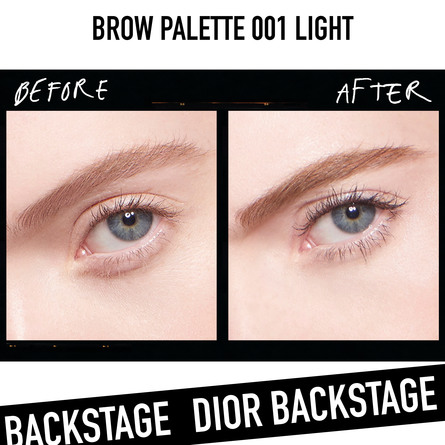 DIOR BACKSTAGE BROW PALETTE 001 001 LIGHT BROWN
