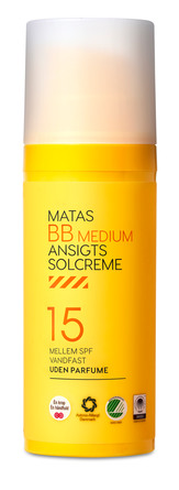 Matas Striber BB Ansigtssolcreme SPF 15 Medium 50 ml