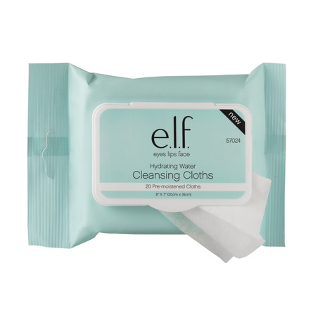 e.l.f. Hydrating Water Cleansing Cloths 20 stk.