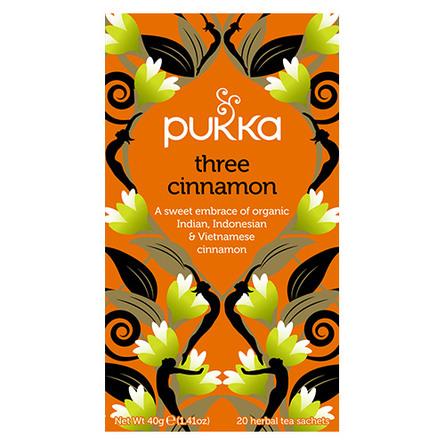 Pukka Three Cinnamon te - øko 20 breve