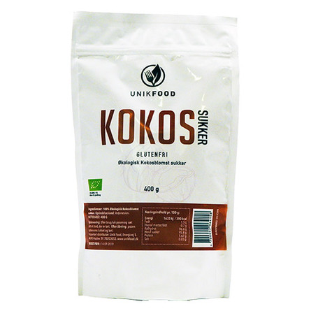 Unik Food Kokosblomstsukker Øko 400 gr.