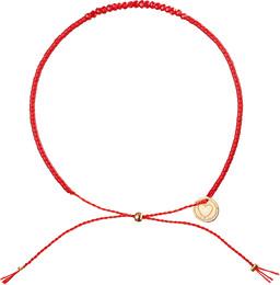 Hjerteforeningen Elsk Hjertet armbånd rødt perlearmbånd 2018