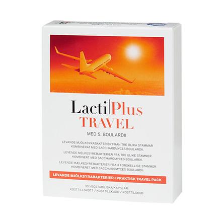 Lactiplus Travel Mælkesyrebakterier 30 kaps