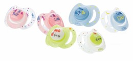 Nûby Sut 2-pak Little Moments Clow m oval silikone 0-6 mdr