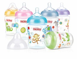 Nûby Sutteflaske Softflex m slowflow 0+ år 270 ml