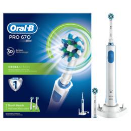 Oral-B (Braun) Pro 670 CrossAction elektrisk tandbørste Powered By Braun